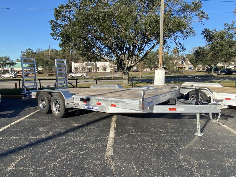 Sure-Trac 10k 82x18 16+2 Aluminum Equipment Trailer