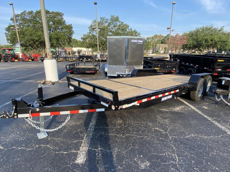 Sure-Trac 7 x 16 + 4 Tilt Bed Equipment Trailer 14K