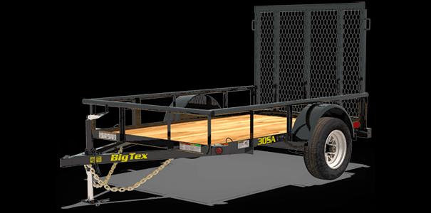 Big Tex 30SA-8 Single Axle Utility Trailer