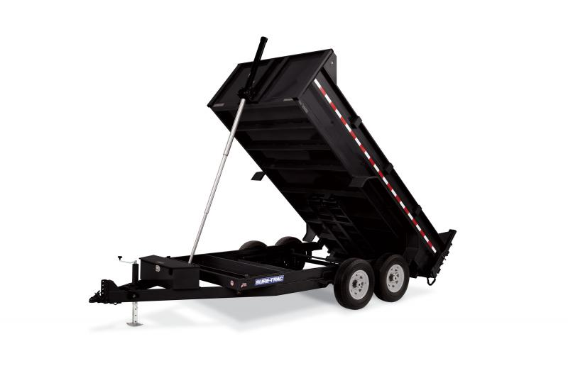 Sure-Trac 82 x 16 14K (Telescopic) Dump Trailer