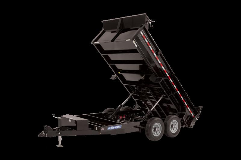 2021 Sure-Trac HD Low Profile Dump Trailer 82in x 12 Utility Trailer