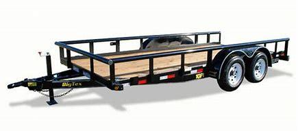Big Tex 10PI-18 Tandem Axle Pipe Top Utility Trailer