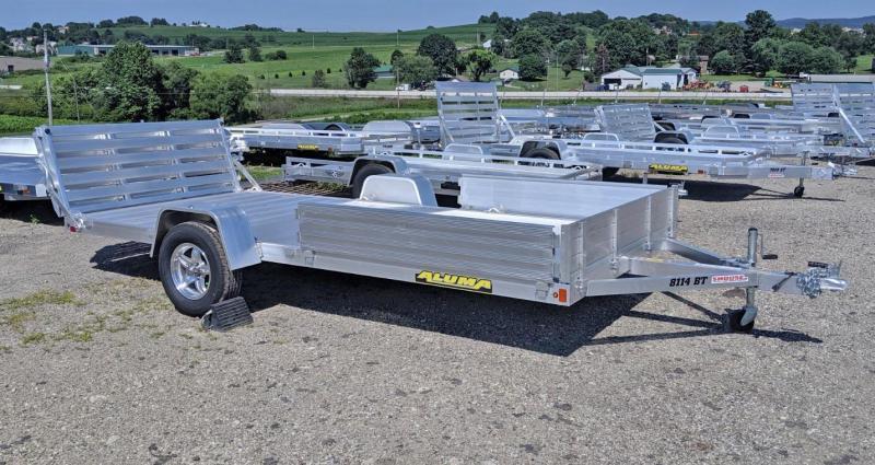 """NEW 2020 Aluma 6'9"""" x 14' Utility w/ Side Ramps & Bi-Fold Gate"""