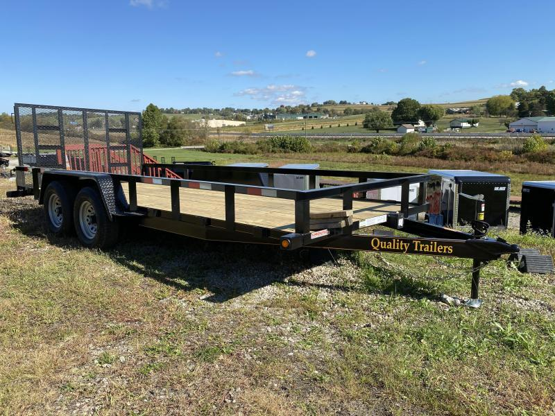 NEW 2021 Quality 7x16 Tandem General Duty Utility Trailer w/ No Dove