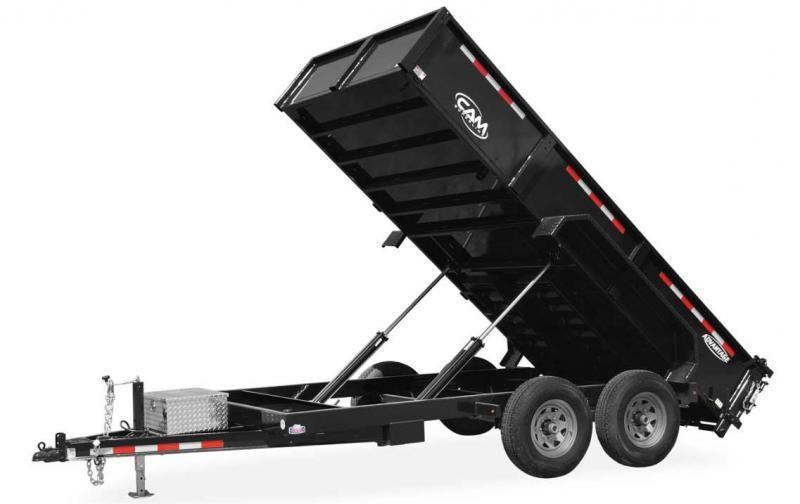 "NEW 2021 CAM ""Advantage"" 6'8"" x 14' HD Lo Pro Equipment Dump Trailer (7k Axles)"
