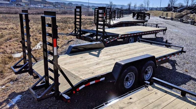 NEW 2021 Quality 18' General Duty Equipment Hauler w/ 2' Dove Tail