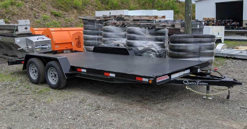 NEW 2021 Quality 18' HD Diamond Deck General Duty Car Hauler w/ 4' Dove Tail (8500# GVW)