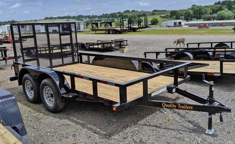 NEW 2021 Quality 7x12 Tandem General Duty Utility Trailer w/ No Dove