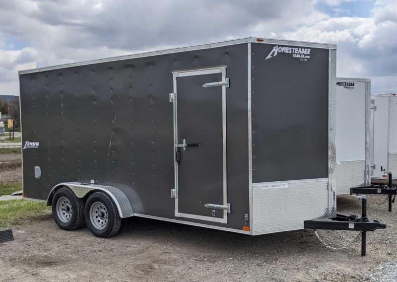 NEW 2021 Homesteader 7x14 Intrepid V-Nose Cargo Trailer w/ Ramp Door