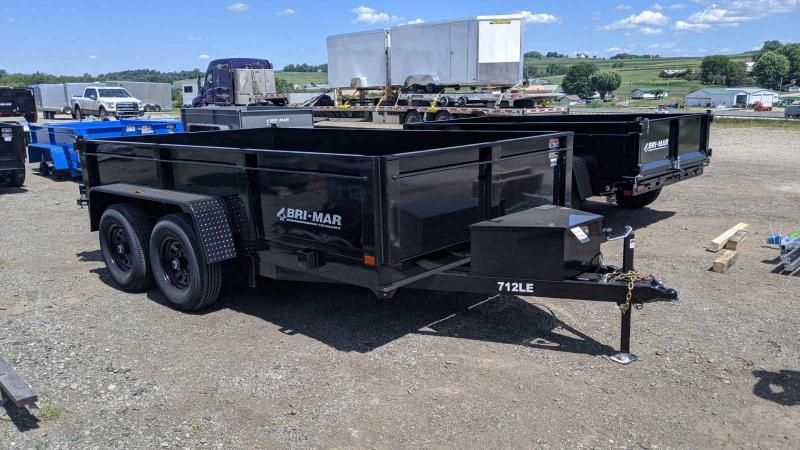 "NEW 2021 Bri-Mar 6'9"" x 12 Lo Pro Equipment Dump w/ Combo Gate"