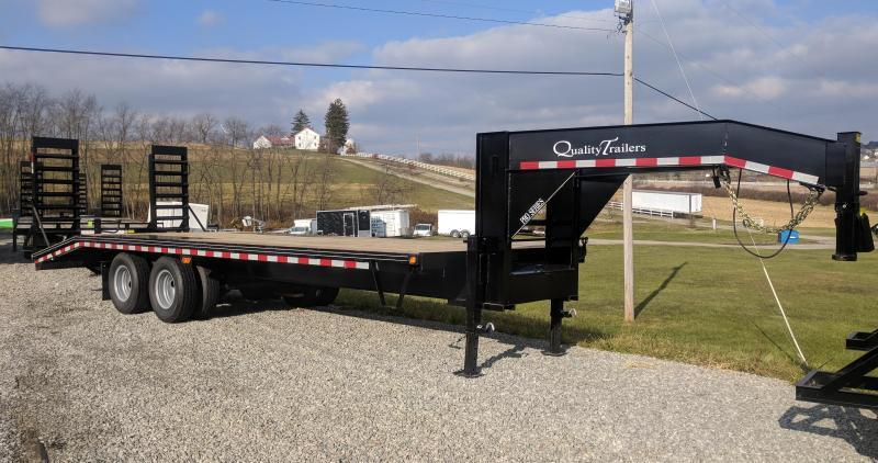 NEW 2022 Quality 20+5 HD Deckover Gooseneck w/ Spring Assist Ramps