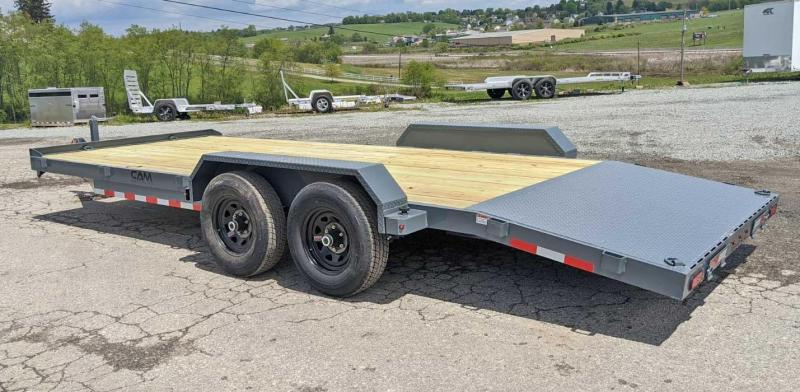 NEW 2021 CAM Superline 20' HD Car Hauler w/ Underbody Ramps & DS Removable Fender