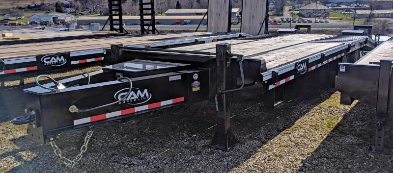 NEW 2021 CAM 20+5 HD Deckover Tagalong w/ Air Brakes & Wood Filled Stand Up Ramps