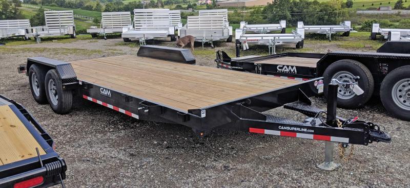 NEW 2020 CAM 18' HD Car Hauler w/ Wood Deck & Removable Fender