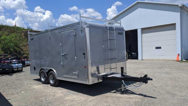 NEW 2020 Car Mate 8x16 HD Contractor Trailer w/ Barn Doors