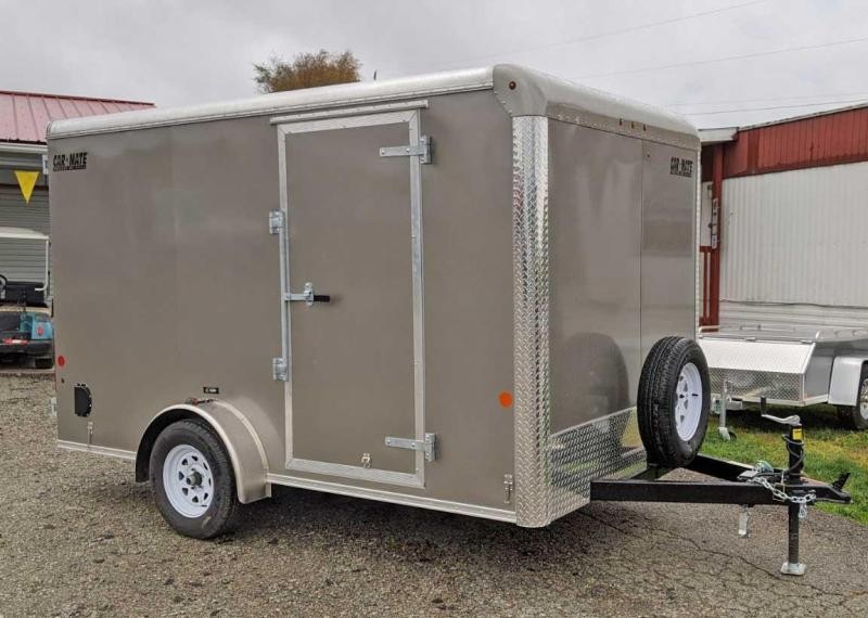 "NEW 2021 Car Mate 7x12 Custom Cargo Trailer w/ Barn Doors & 6"" Add'l Hgt"