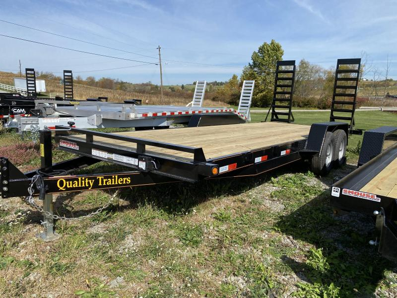 NEW 2021 Quality 18' General Duty Equipment Hauler w/ No Dove Tail