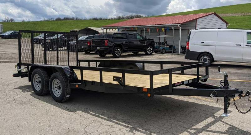 NEW 2021 Gator Made 7x16 Big Boss Utility Trailer w/ Spring Assist Gate & Spare Tire Mount