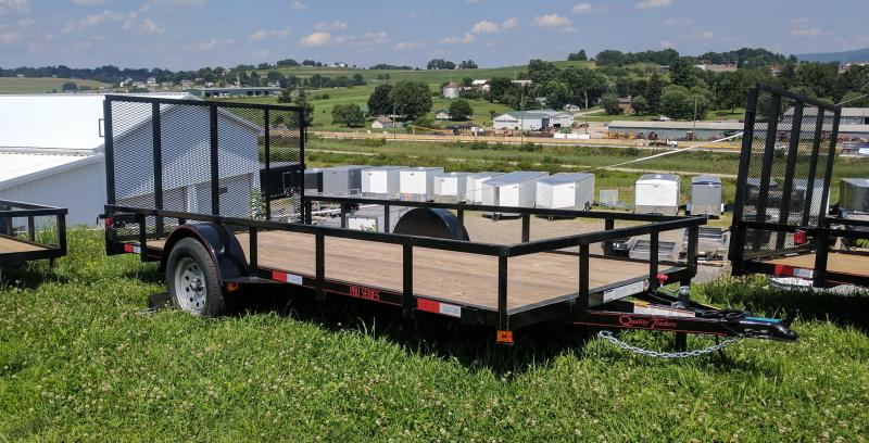 NEW 2021 Quality 7x14 PRO Utility Trailer w/ Spring Assist Gate & Tubular Top Rail
