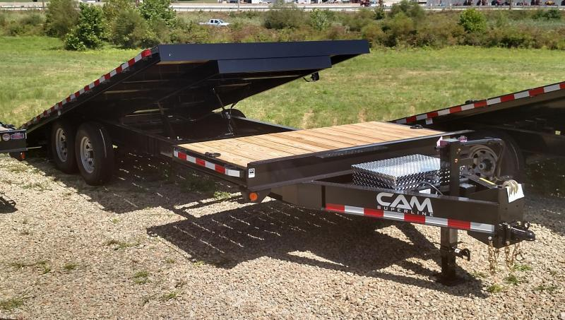 NEW 2021 CAM 24' (4+20) Deckover POWER Split Tilt Trailer