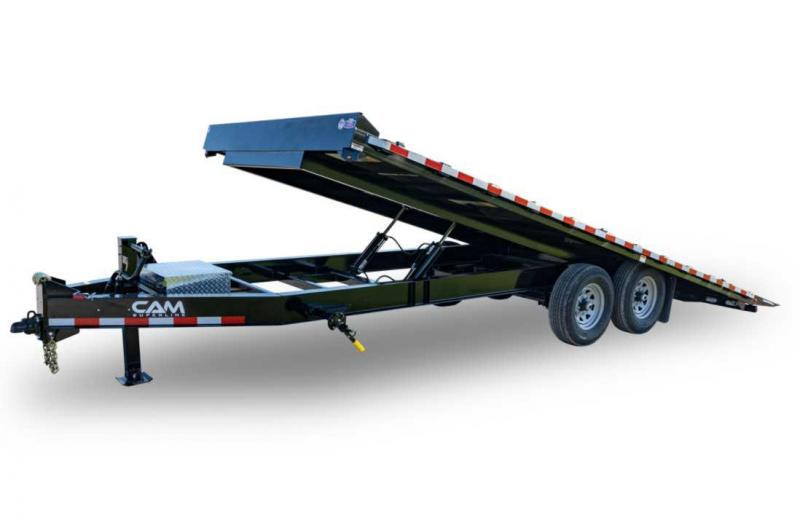 NEW 2021 CAM 24' Deckover Power Full Tilt Trailer (7k Axles)