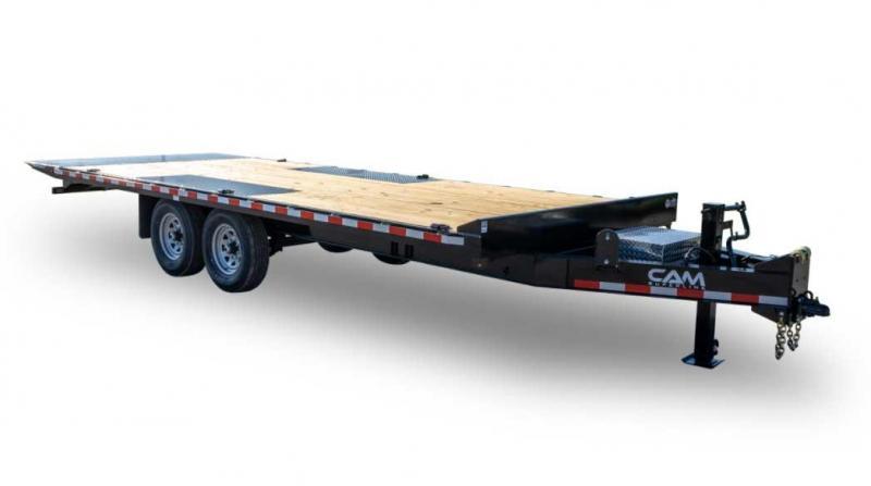 NEW 2021 CAM 24' Deckover Power Full Tilt Trailer (7k Axles)