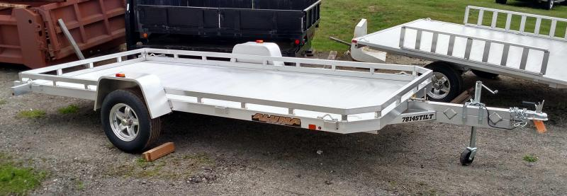 "NEW 2022 Aluma 6'6"" x 14' Single Axle Tilt Trailer"