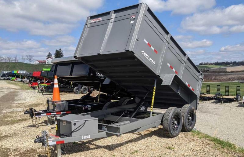 """NEW 2021 Bri-Mar 6x12 Lo Pro Dump w/ Barn Doors & 44"""" Sides (9990# GVW)"""