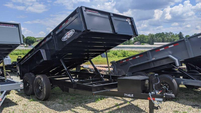 "NEW 2021 Bri-Mar 6'9"" x 14 HD Lo Pro Equipment Dump w/ Combo Underbody Ramps"