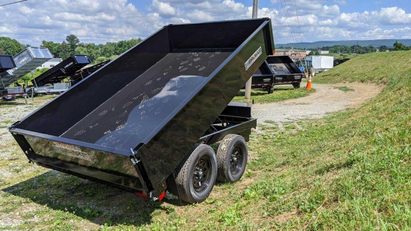 NEW 2021 Bri-Mar 6x10 Deckover Dump Trailer w/ One Piece Gate