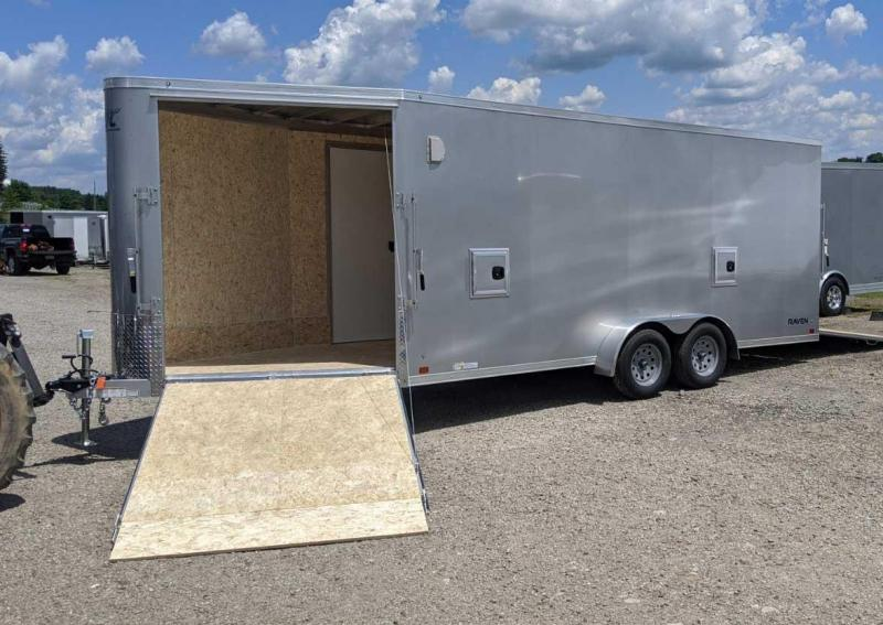 "NEW 2020 ATC 7x18 Raven All Sport V-Nose Cargo Trailer w/ Ramp Rear Door & Ramp in V (84"" Inside Height)"