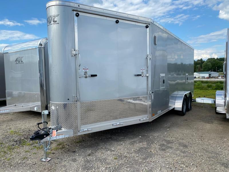 "NEW 2020 ATC 7x18 Raven All Sport Aluminum  V-Nose Cargo Trailer w/ Ramp Rear and Ramp in V (84"" Inside Height)"