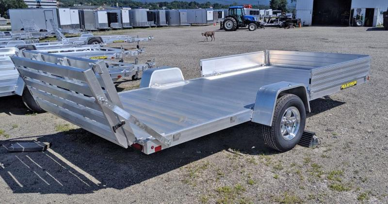 "NEW 2021 Aluma 6'9"" x 13 Utility w/ Side Ramps & Bi-Fold Gate"
