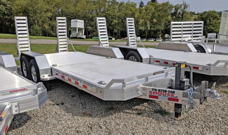 NEW 2021 Aluma 18' HD Equipment Hauler w/ HD 5' Stand Up Ramps