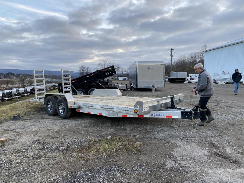 USED 2019 Norstar 20' Aluminum Equipment Hauler