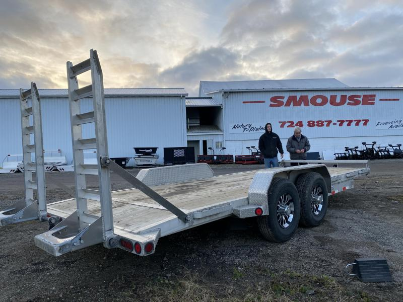 USED 2019 Norstar 18' Aluminum Equipment Hauler w/2' Dove