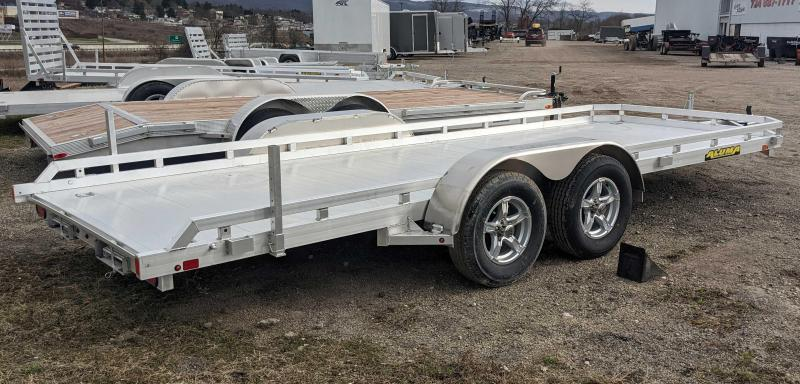 "NEW 2022 Aluma 6'6"" x 18 Utility Trailer w/ Underbody Ramps (Late May Arrival)"