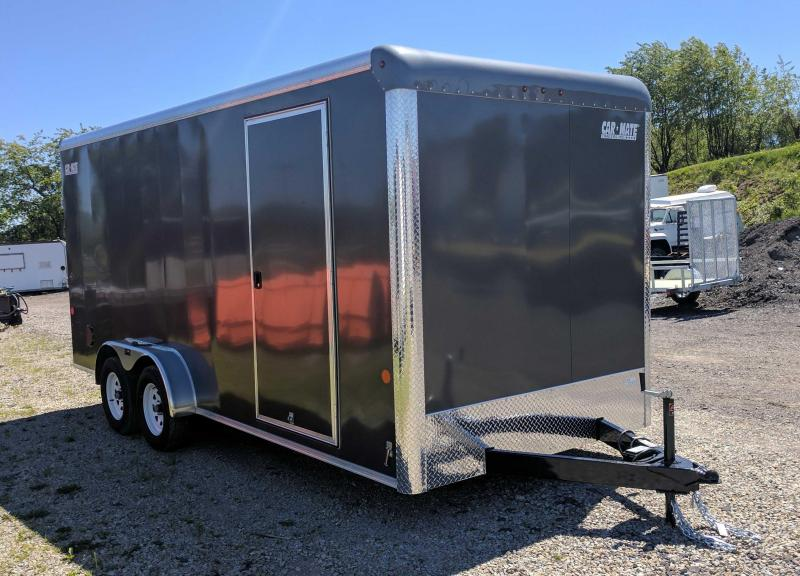 "NEW 2020 Car Mate 7x18 HD Custom Cargo Trailer w/ Ramp Door (6"" Add'l Hght)"