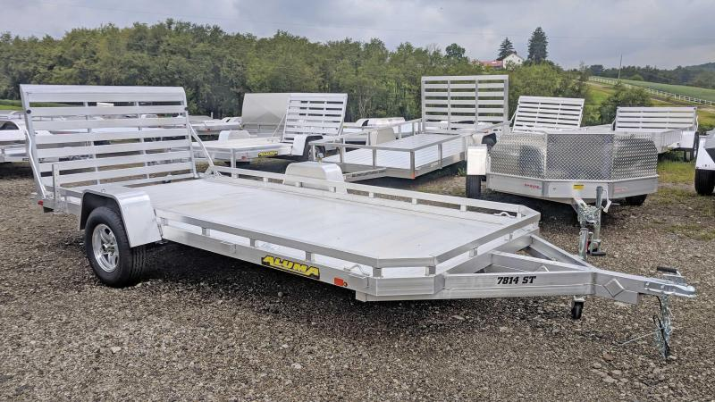 "NEW 2021 Aluma 6'6"" x 14 Single Axle Utility Trailer"