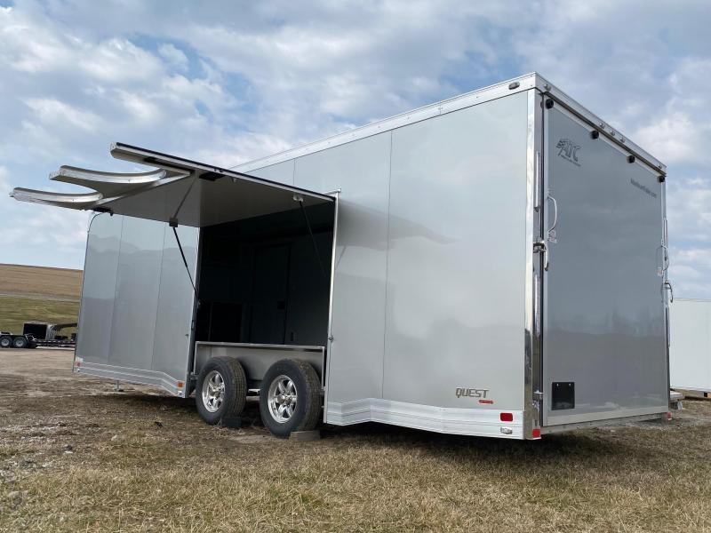 "NEW 2021 ATC 8.5 x 24 QUEST ""CH305"" Enclosed ALUMINUM Car Hauler"