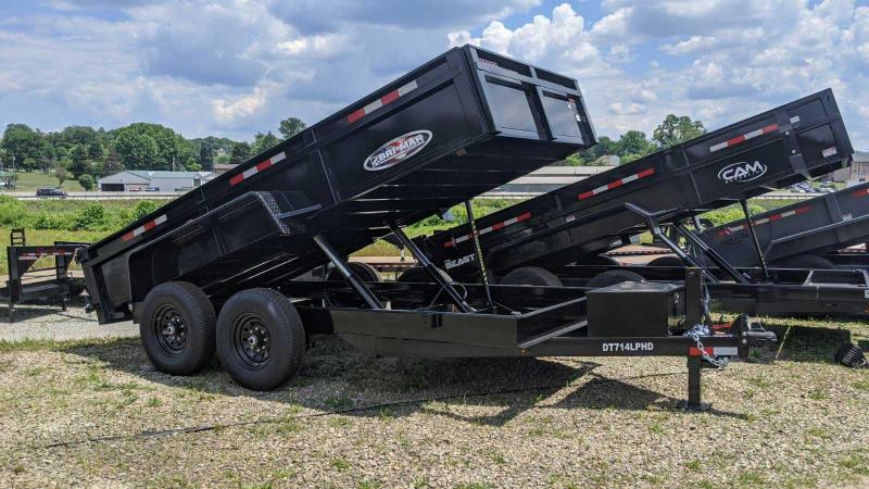 "NEW 2020 Bri-Mar 6'9"" x 14 Lo Pro Equipment Dump Trailer"