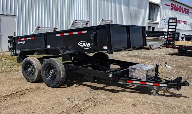 """NEW 2021 CAM """"Advantage"""" 6x12 Lo Pro Equipment Dump Trailer"""