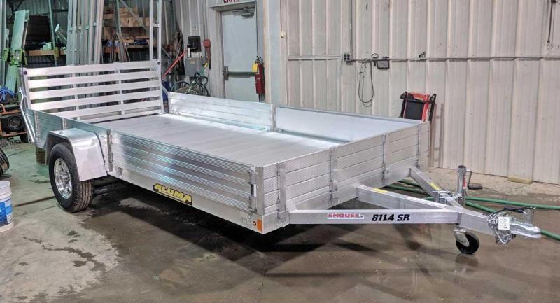 "NEW 2022 Aluma 6'9"" x 14' SR Utility w/ Side Ramps - Solid Rear Sides & Bi-Fold Gate"