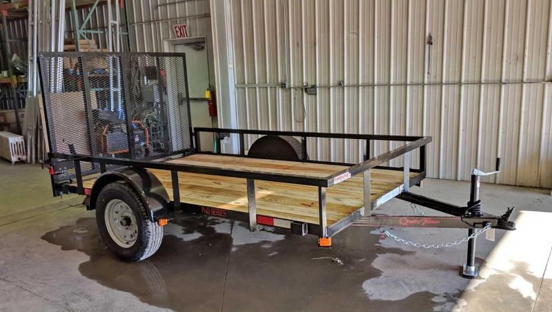 NEW 2021 Quality 6x10 PRO Utility Trailer w/ Spring Assist Gate & Tubular Top Rail