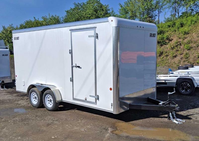 "NEW 2021 Car Mate 7x16 HD Custom Cargo Trailer w/ Ramp & 12"" Add'l Hgt"