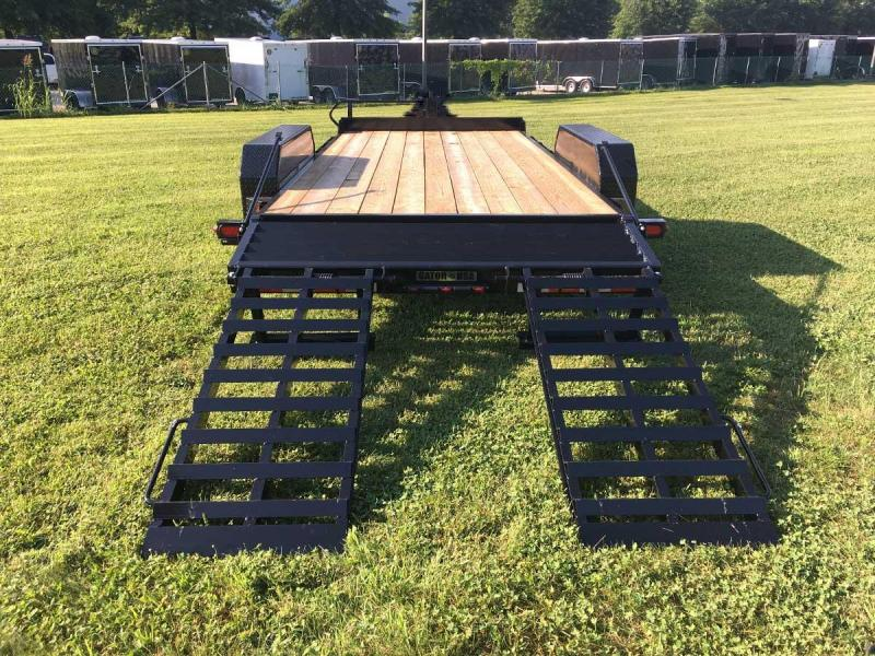 NEW 2021 Gator Made 21' (18' + 3' Dove) Lo Pro Equipment Hauler w/ Self Cleaning Dove (7K Axles)