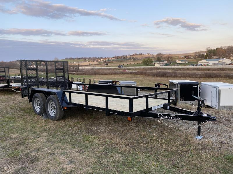 NEW 2021 Quality 6x18 Econo Utility Trailer w/ No Dove