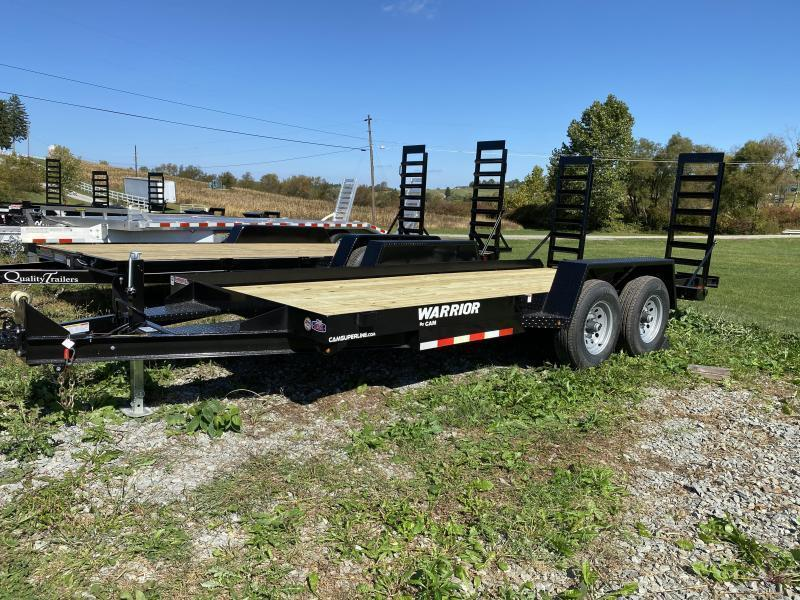 NEW 2021 CAM 18' Warrior Equipment Hauler w/ 5' Angle Stand Up Ramps