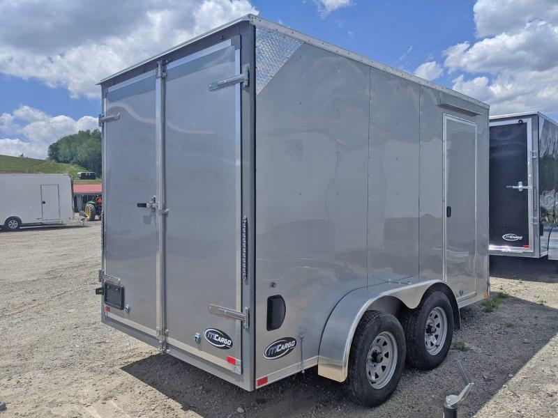 NEW 2020 ITI 7x12 Tandem JST Sloped V-Nose Cargo Trailer w/ Barn Doors