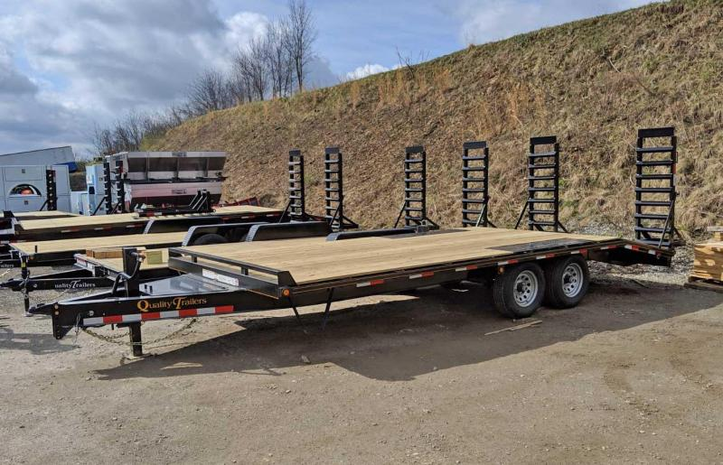 NEW 2021 Quality 16+4 General Duty Deckover Tagalong w/ Stand Up Ramps